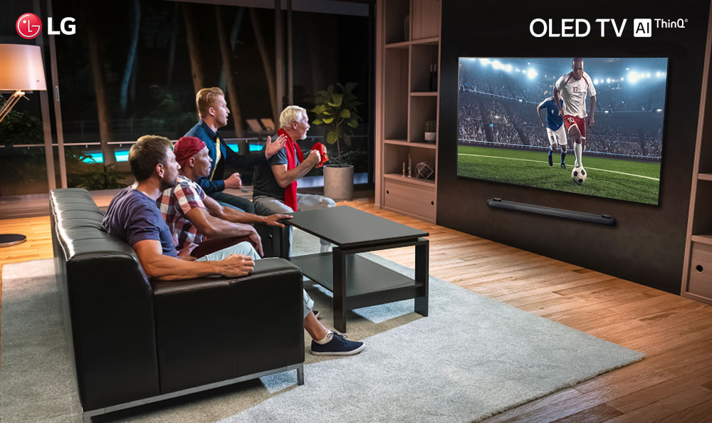 ¡Vive la pasión del fútbol junto a tu LG OLED TV!