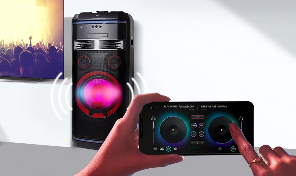 Controla tu XBOOM a distancia con la app de LG