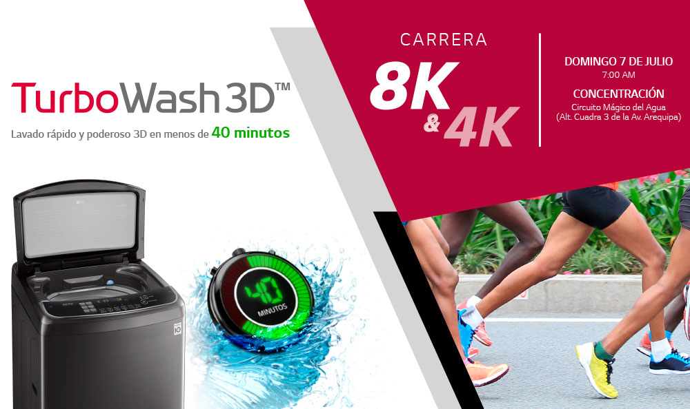 Carrera LG TurboWash 3D 8K & 4K, ¡Ven y corre con nosotros!