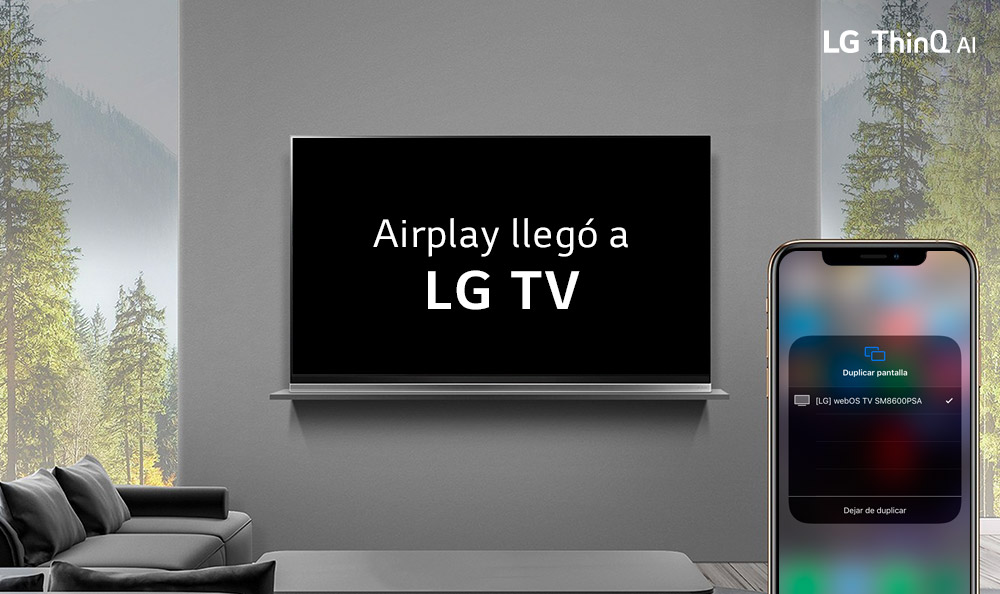 LG ANUNCIA DISPONIBILIDAD DE APPLE  AIRPLAY 2 EN LOS TELEVISORES THINQ AI 2019