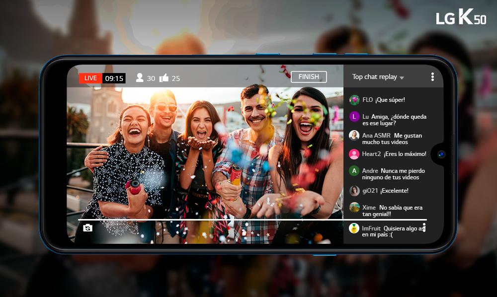 LG K50 | Transmite en Youtube Live desde tu celular