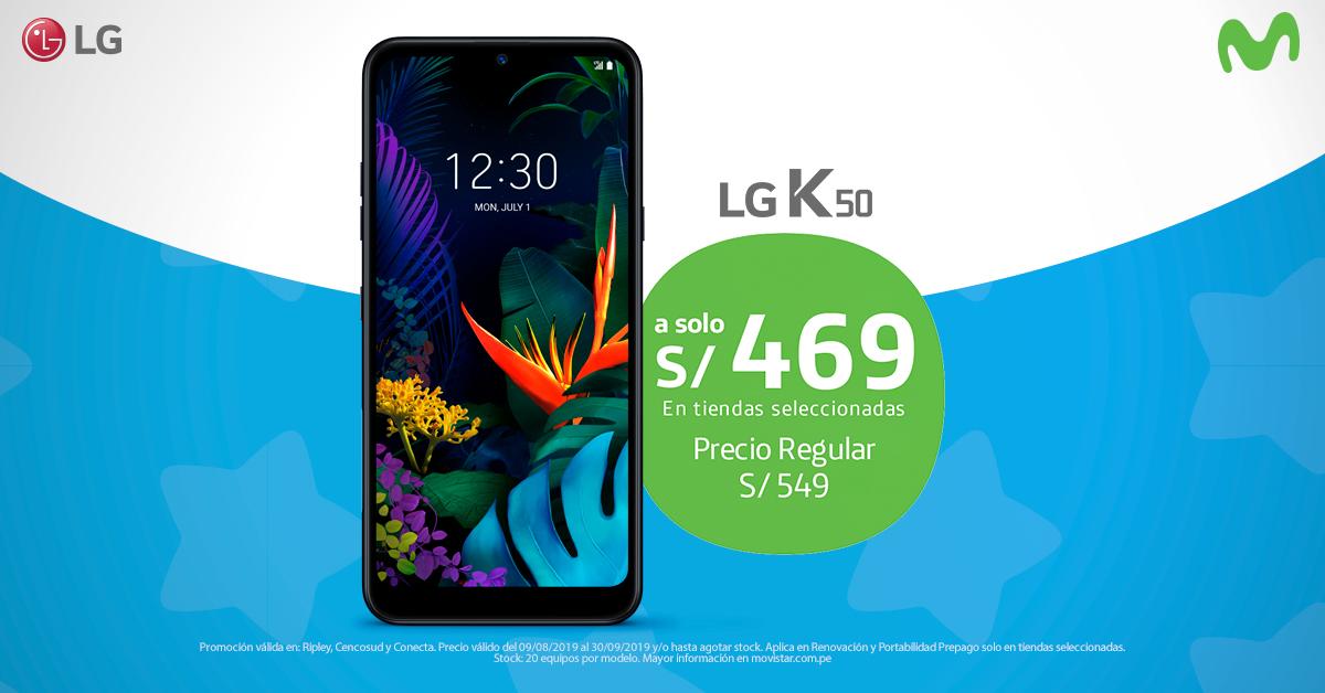 ¡Llévate LG K50 a un PRECIO DE INFARTO!