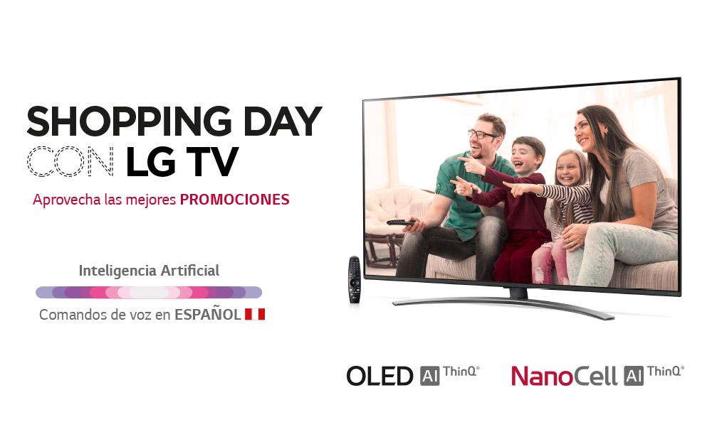 POR SHOPPING DAY: ¡HASTA UN 72% DE DSCTO EN TELEVISORES LG!