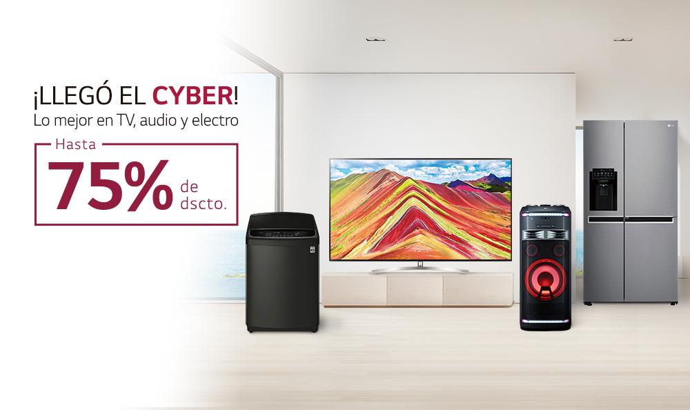 ¡Aprovecha hasta un 75% de descuento por Cyber LG!
