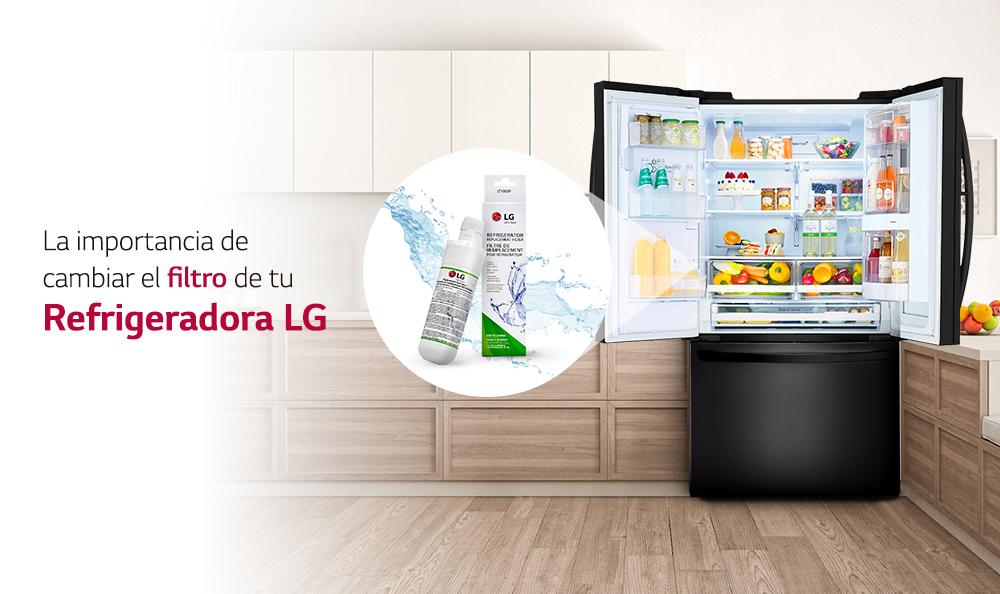 La importancia de cambiar el filtro de agua de tu Refrigeradora LG