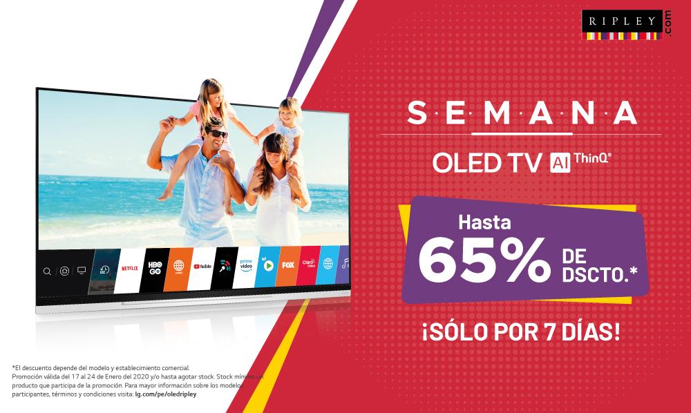 LG OLED TV | Te regalamos hasta un 65% de DSCTO. en Ripley Perú