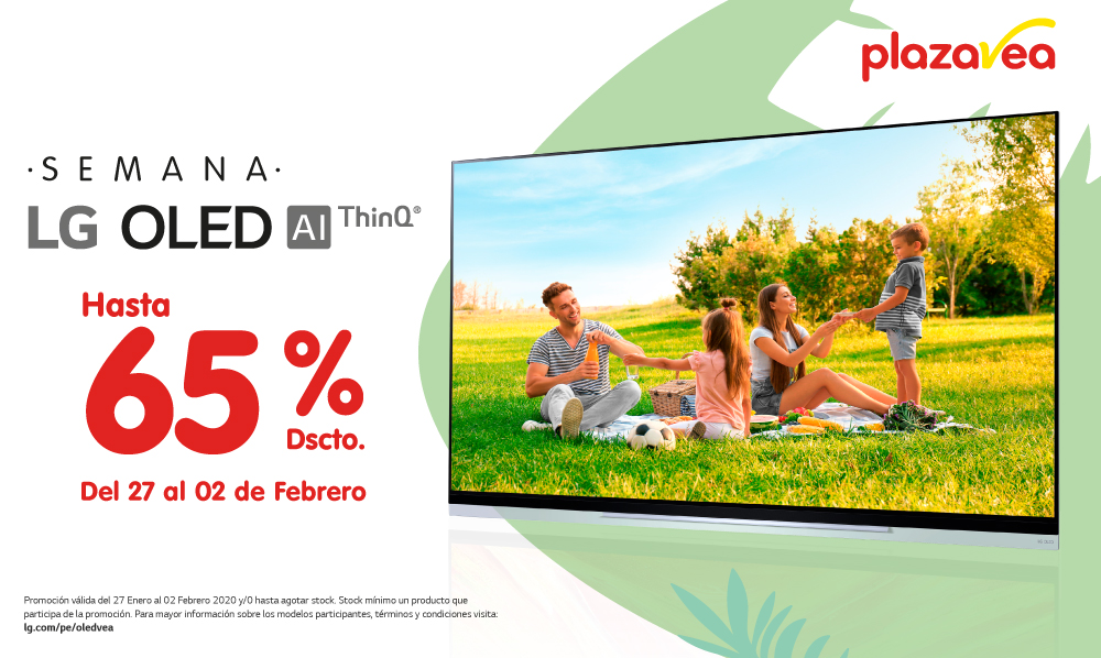 LG OLED TV | Te regalamos hasta un 65% de DSCTO. comprando en Plaza Vea
