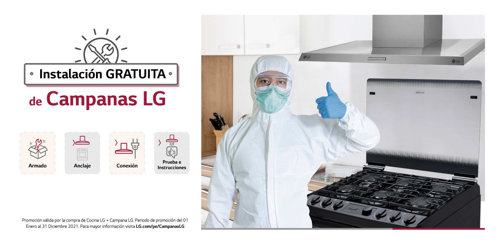 Nueva Campana Extractora LG con Instalación Gratuita