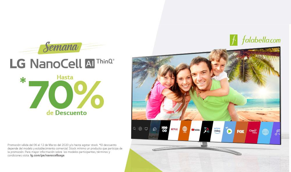 Semana LG NanoCell | Aprovecha hasta un 70% de DSCTO.