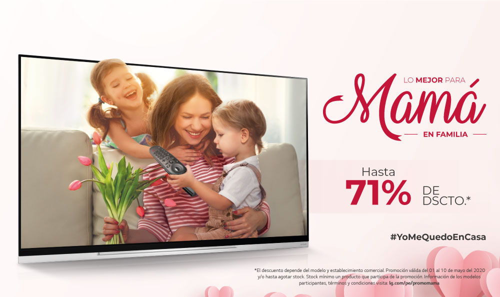 Televisores LG | ¡Los mejores descuentos por el Día de la Madre!