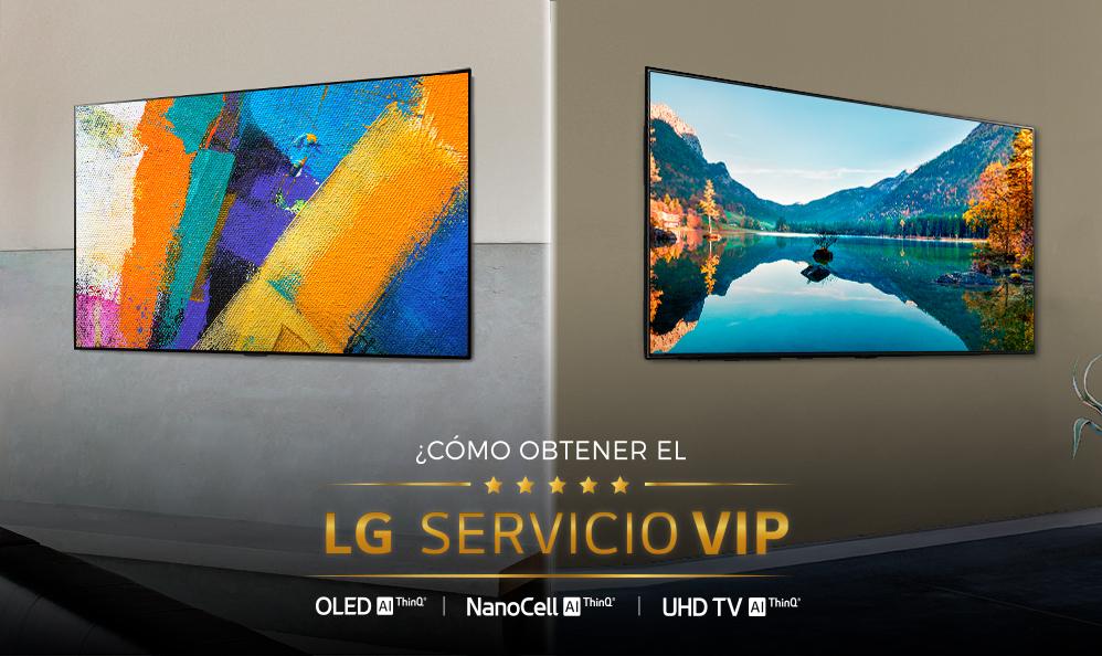 LG TV – Obtén el Servicio VIP automáticamente comprando un TV seleccionado del 2020