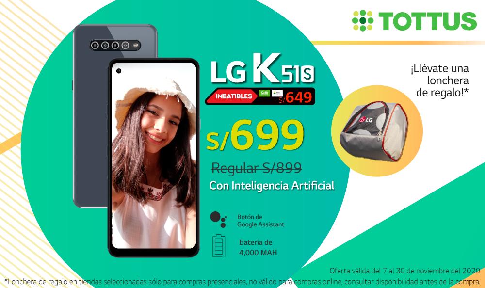¡Llévate el fantástico LG K51S y llévate una lonchera de regalo!