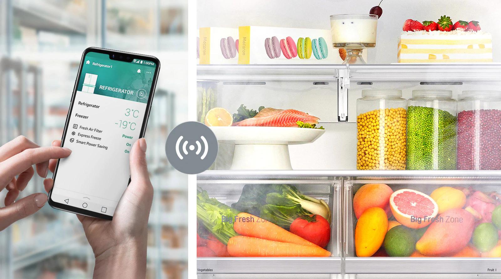 3 consejos para que tus alimentos se mantengan  frescos en tu refrigeradora LG 