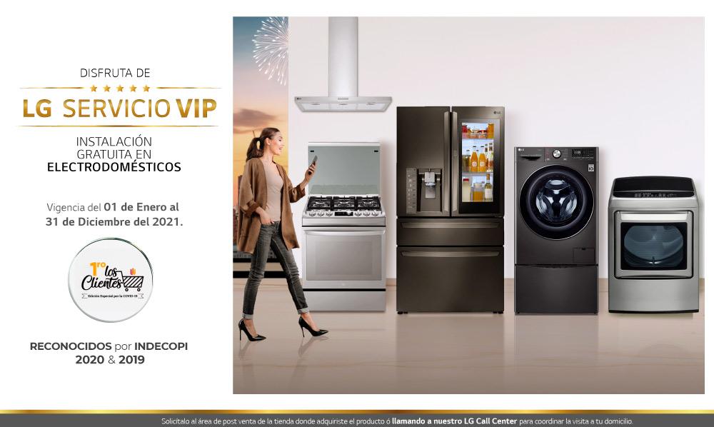 Servicio VIP para tus electrodomésticos LG de Línea Blanca